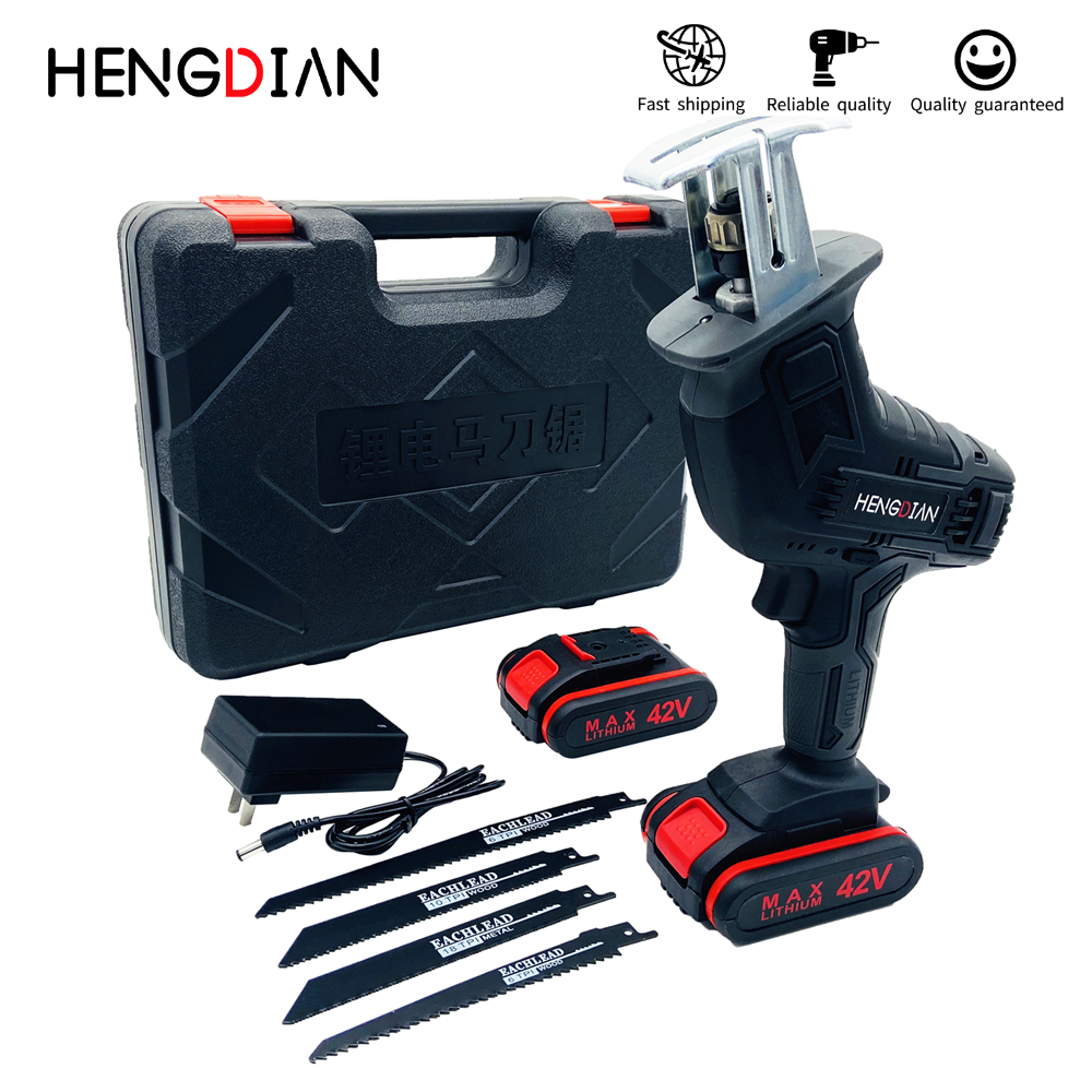 Portable Charging Reciprocating Saw for Wood/Metal/Plastic Power Tools Electric Saw with Lithium Battery