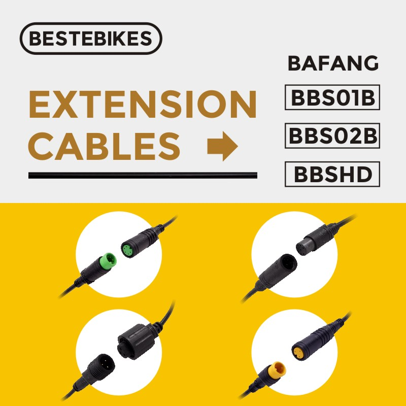 EB-BUS Extension Cable for 8fun Bafang BBS01 BBS02 BBSHD Mid-drive Motor Kit