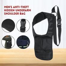 Anti Theft Underarm Shoulder Bag Storage bag Inspector Holster tablet Card Case Wallet Men Agent package
