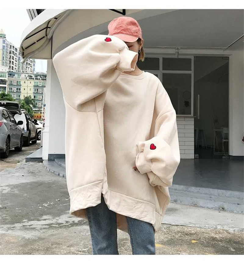 Fashion Sweatshirt Oversized Hoodie Clothing Long Sleeve Tops Women Harajuku Fashion Girls Streetwear Hoodie Long Sleeve Hoodie