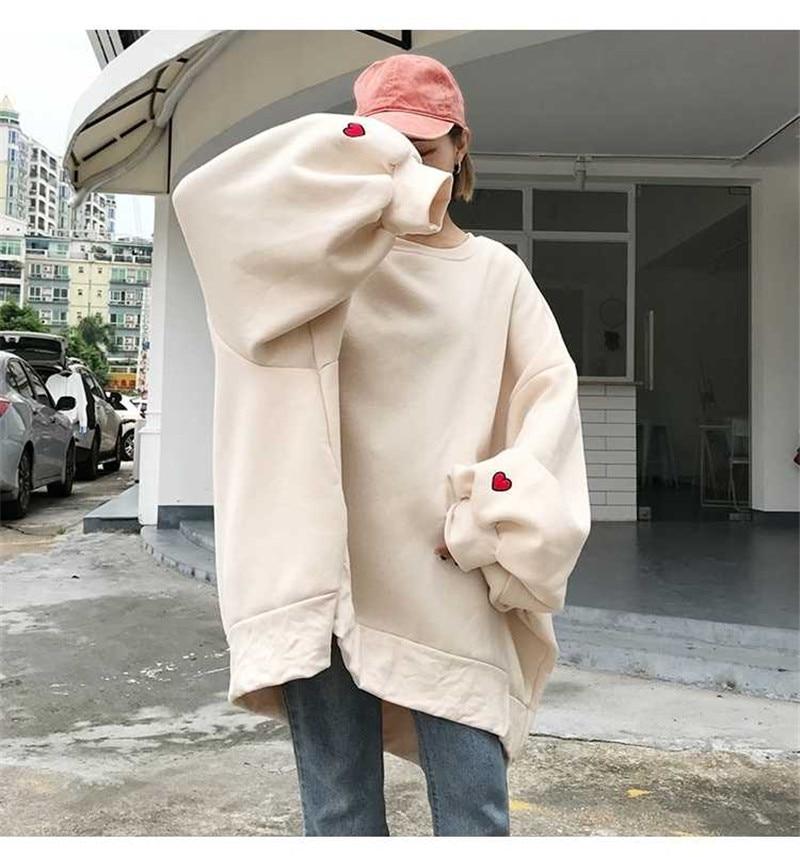 Fashion Sweatshirt Oversized Hoodie Clothing Long Sleeve Tops Women Harajuku Fashion Girls Streetwear Hoodie Long Sleeve Hoodie