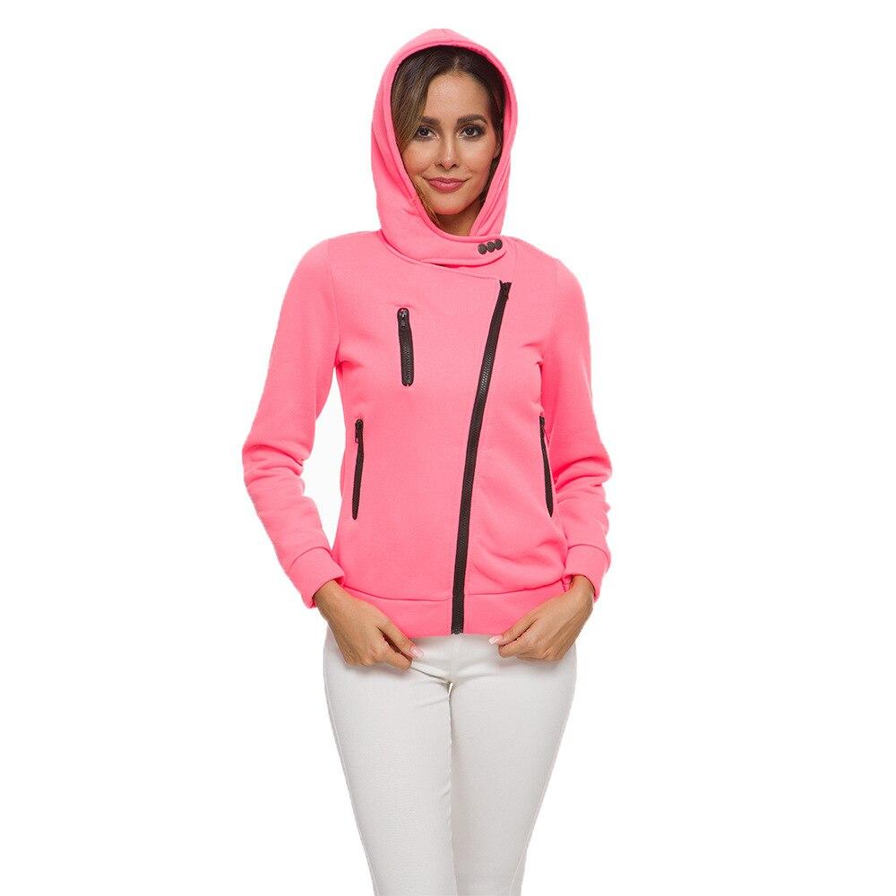 oversize 2020 Zipper Hoodies Women Jackets Hoody Jumper Overcoat Outwear Female Sweatshirts Warm Fashion Long Sleeve Hoodies 4