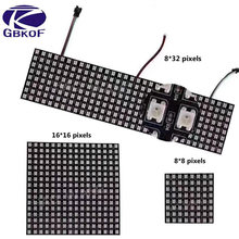 DC5V 8*8,16*16,8*32 Pixels WS2812 Digital Flexible LED Programmed Panel Screen Individually Addressable Full Color Display Board(China)
