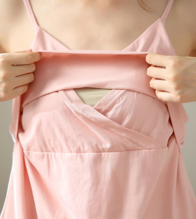 Algodão maternidade manga longa pijamas mulheres de