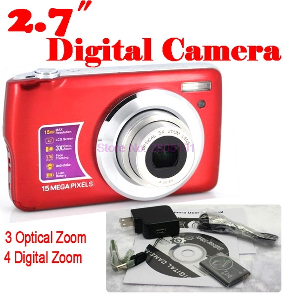 Optical-Camera 4x-Digital-Zoom-3x 15MP Or 20pieces Anti-Shake Face-Detection Dhl Ems