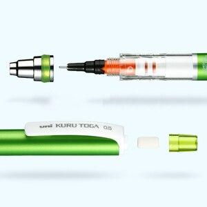 Image 3 - 1 pçs japão uni M5 559 lápis mecânico rotativo 0.3 / 0.5mm kuru toga advance lápis mecânico baixo centro de gravidade