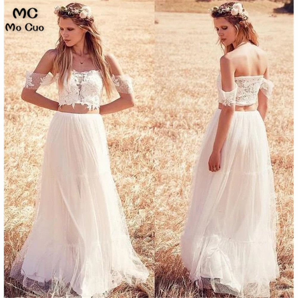 Off The Shoulder Wedding Dress With Lace Appliques Short Sleeve Tulle Wedding Dress Bridal Gown