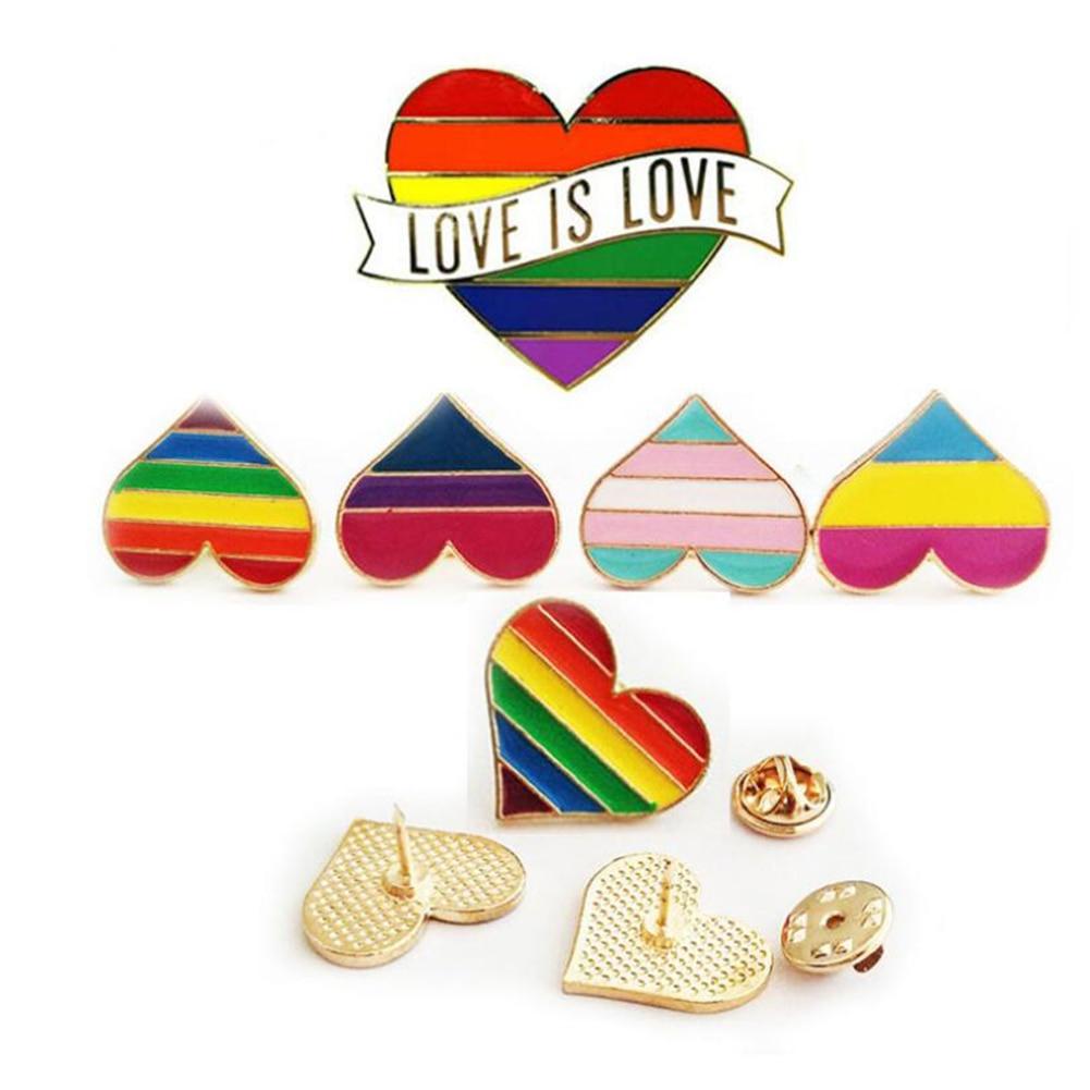 Accessories Rainbow  Enamel Pins Gay Badge Brooch Denim Brooches Collar Pin