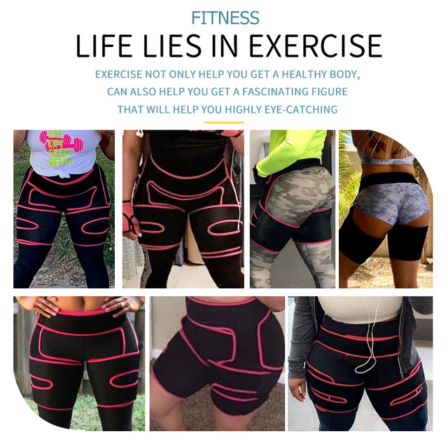 Neoprene Sweat Slim Thigh Trimmer Waist Trainer Leg Shapers Slender Slimming Belt Shapewear Muscles Band Weight Loss Body Shaper 1