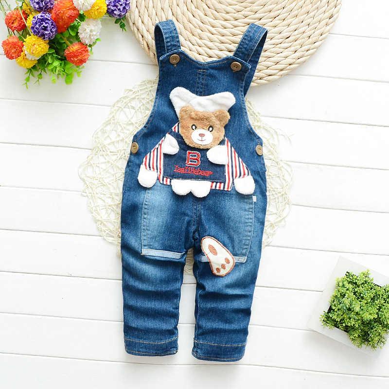 IENENS เด็กชายยาวกางเกง Denim Overalls Dungarees ทารกกางเกงยีนส์ Jumpsuit เสื้อผ้าเสื้อผ้า Playsuits กางเกง