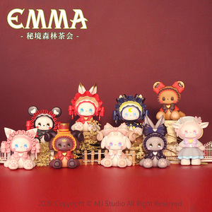 POPMARTS Blind Box Emma Cartoon Bear Bunny Surprise doll Random Box set Toys Collectibles Figure Character Model Gifts For Girls