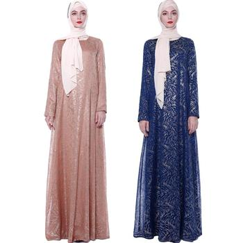 Fashion Muslim Women Long Sleeve Abaya Maxi Dress Robe Dubai Kaftan Islamic Cocktail Party Gown Jilbab Arabic Dresses Vintage