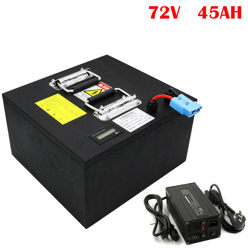 No taxes Customized 72V 45Ah Lithium E-Scooter Battery Pack for 3000W E-Motorcycle /Electric Vehicle image