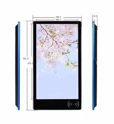 15 18 inch wandmontage reclame display digital signage Qcode scanner en RFID reade LCD touch Screen