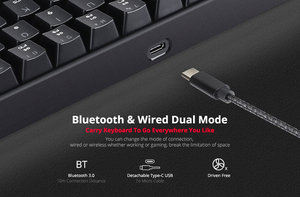 Image 3 - Motospeed CK62 السلكية/سماعة لاسلكية تعمل بالبلوتوث لوحات المفاتيح الميكانيكية 61 مفاتيح RGB LED الخلفية الألعاب لوحة المفاتيح ل Win iOS أندرويد كمبيوتر محمول