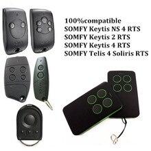 The best SOMFY 433.42MHz remote control duplicator SOMFY RTS garage door opener Controle SOMFY gate opener handheld transmitter привод для откатных ворот somfy freevia 600 комплект