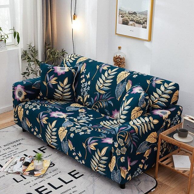 Фото цветочный чехлов диван чехол универсальный эластичный чехол