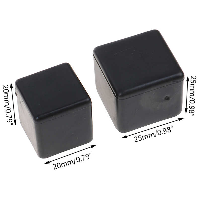 10pcs Black Silicone Chair Feet Cover Floor Protector Table Glides Rectangle