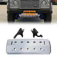 Stainless Steel Front Bumper Skid Protector Guard Plate Cover Car Styling Parts For LAND ROVER DEFEND