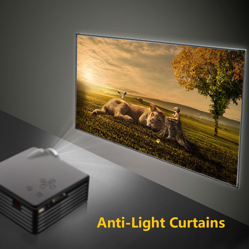 High Brightness Reflective Projector Screen <font><b>60</b></font> <font><b>100</b></font> 120 Inch 16: 9 Fabric Cloth Projector Screen For Home Beamer image