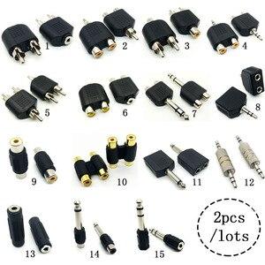 Штекер 3,5 мм на 2 RCA разъем «Папа-мама» в AV аудио разъем 2 в 1 стерео 6,5 RCA для микрофона, гарнитура, двойной адаптер для наушников