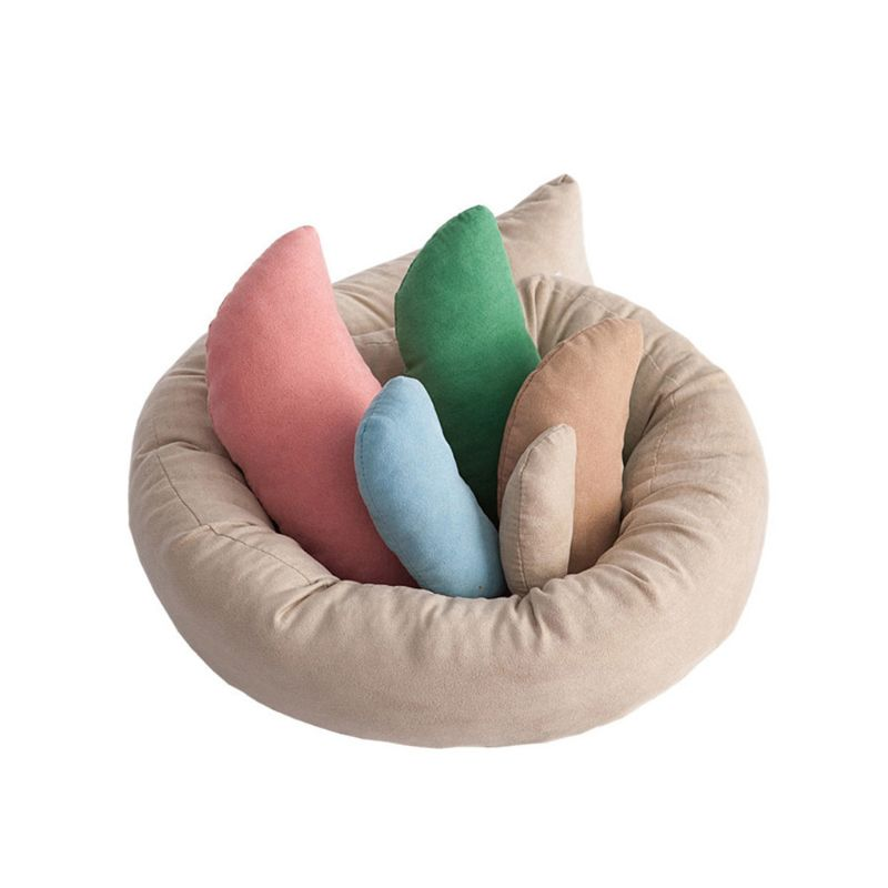 6 PCS/Set Baby Photo Shoot Wheat Donut Posing Props Baby Pillows Ring Newborn Photography Props Basket Filler Fotografia