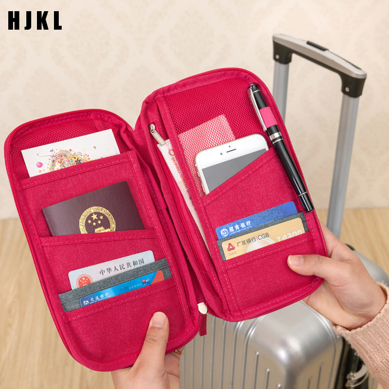 Passport Holder Travel Wallet Big  Travel Accessories Document Bag CardholderCredit Card Holder Wallet Document Package Fashion