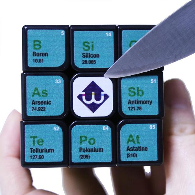 Professional Cube 3x3x3 5.6CM Speed For Magic Cube Chemical Element Periodic Table 3rd-order Cube Learning Formula Education Toy 5
