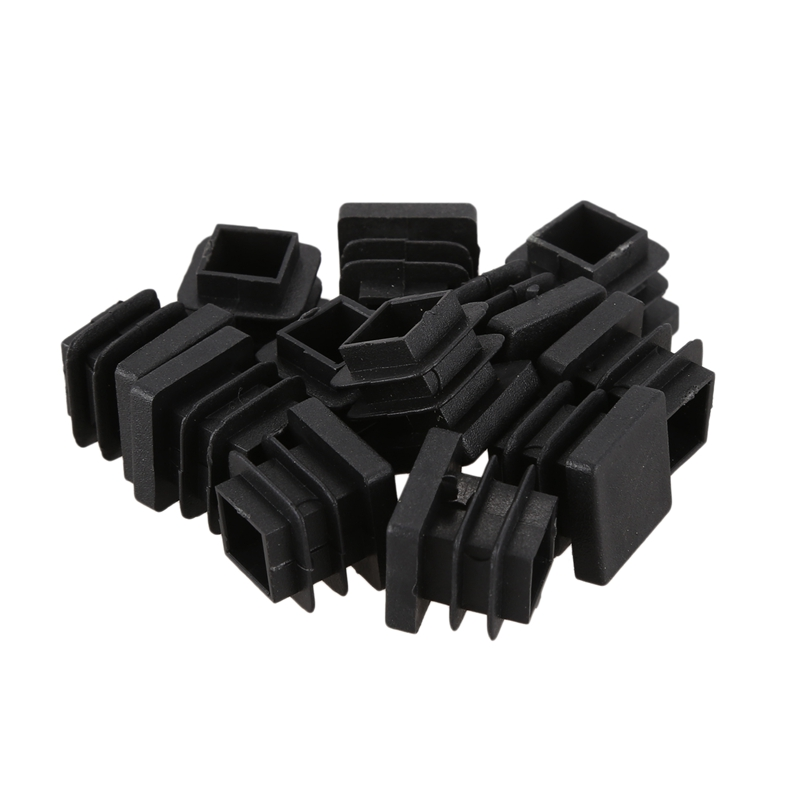 12 Pcs 15mm X 15mm Plastic Square Caps Tube Pipe Inserts End Blanking