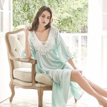Nightgown V neck Cotton Sleepwear Women Long Dress Romantic Nightgown Loose Dress Cotton Nightgown Pregnant women 2021 Fashion