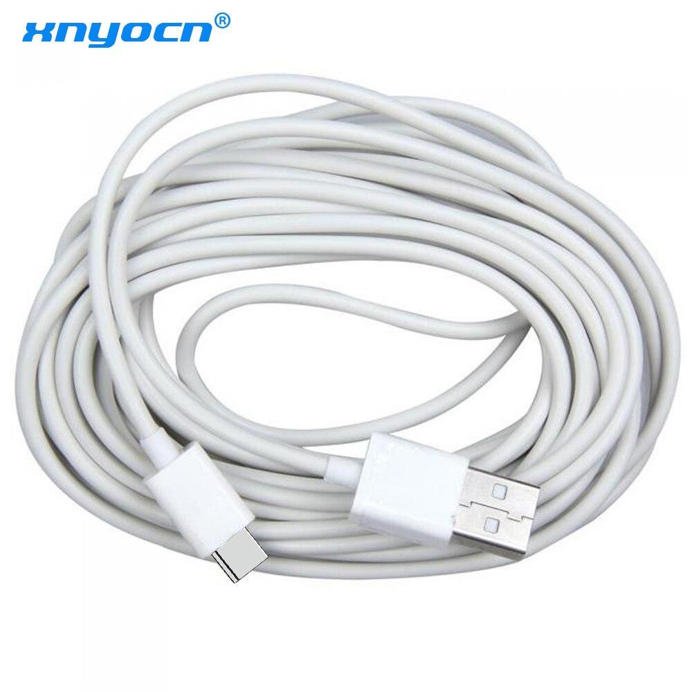 Длинный usb-кабель Xnyocn 5 м Type-C для Samsung S10, кабель быстрой зарядки для Huawei, Xiaomi Mi 9, Oneplus 6t, зарядное устройство USBC