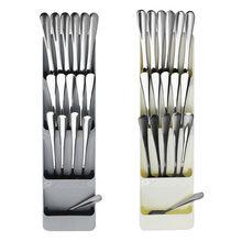 Besteck Lagerung Box Kunststoff Messer Block Halter Schublade Messer Gabel Löffel Lagerung Rack Messer Stehen Schrank Tablett Küche Veranstalter