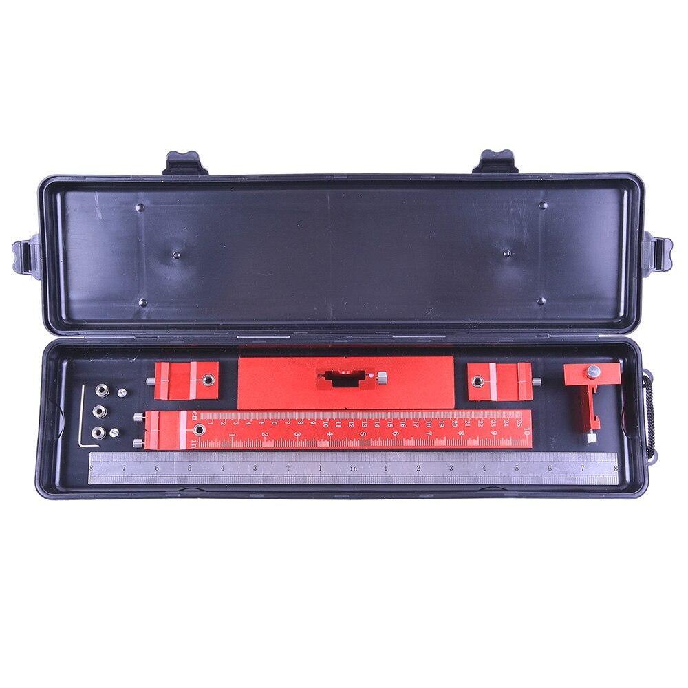 Купить с кэшбэком Profession Aluminum Alloy Drill Guide Sleeve Cabinet Hardware Jig Drawer Pull Wood Drilling Dowelling Tools Set