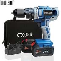 21V Cordless Drill Wireless Drill 20+3 Torque Electric Tools 2in1 Drill And Screwdriver With Batteries With Screwdriver Bag