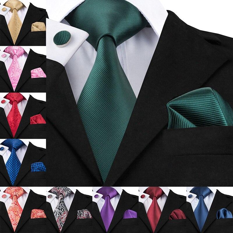 Nova marca hi-tie paisley tie conjunto 100% seda jacquard gravata dos homens gravata hanky abotoaduras definir gravata dos homens para a festa de casamento