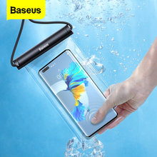 Baseus Waterproof Phone Case for iPhone 12 11 Pro Max Samsung Xiaomi Redmi Swim Water Proof Phone Bag Universal Protection Cover