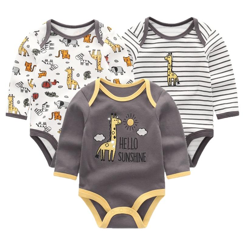 3PCS/Lot Newborn Unicorn Baby Girl Clothes Long Sleeve Girls Baby Clothing Cotton Baby Boy Clothes 0-12M Roupa de bebe 1