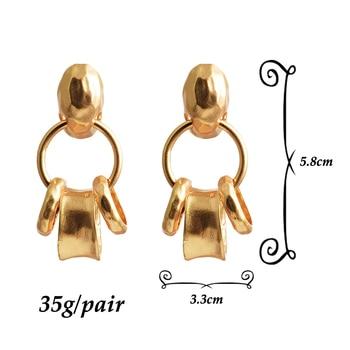 Metal Long Hoops Drop Earrings  6