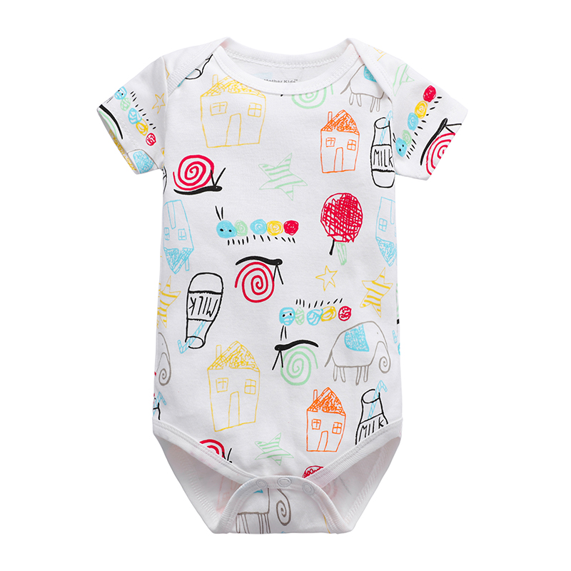 Babies Girls Clothing Bodysuit Newborn Baby Boys Short Sleeve Body 100% Cotton 3 6 9 12 18 24 Months Clothes