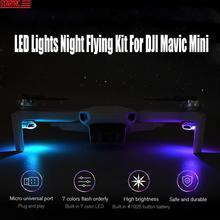 Startrc mavic mini luzes led noite voando kit luzes de sinal sete cores luzes estroboscópicas para dji mini 2 mavic zangão acessórios