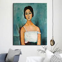 Amedeo Modigliani Christina Canvas Painting Print Living Room Home Decor Artwork Modern Wall Art Oil Painting Posters Picture HD classic amedeo modigliani picasso artwork collection sketch canvas print painting poster wall pictures living room home decor