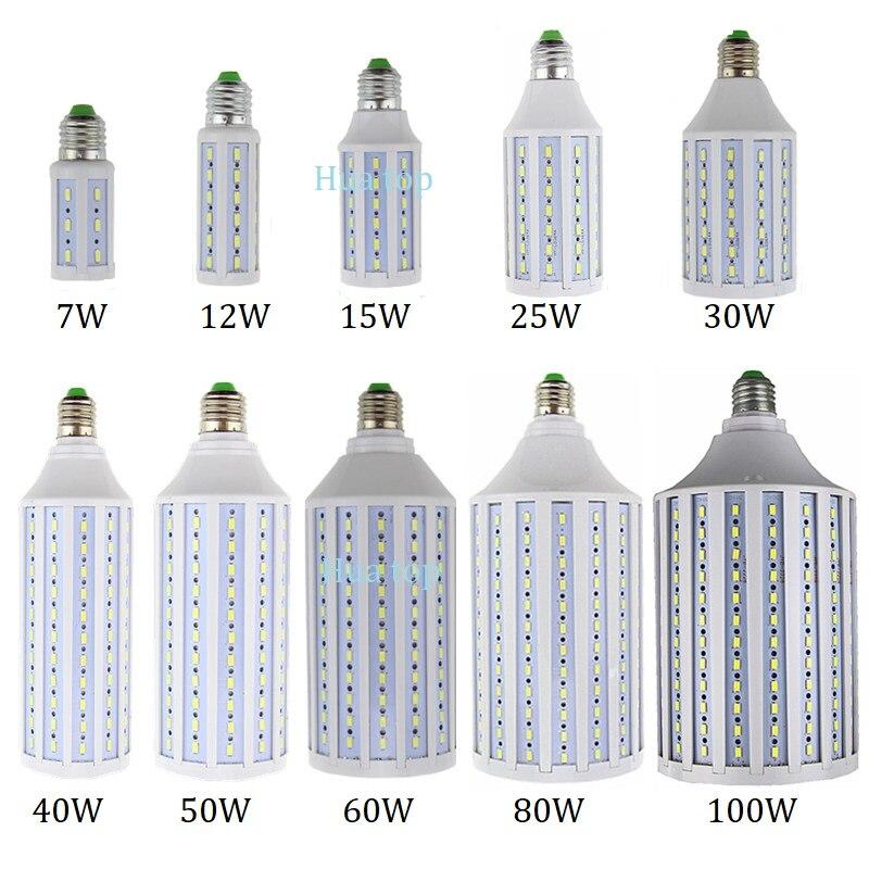 Beleuchtung licht 7W 12W 15W 25W 30W 40W 50W 60W 80W 100W AC85-265V Spot lampe E27 E26 E14 B22 E39 E40 warm cold white Led mais birne