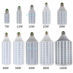 Lighting light 7W 12W 15W 25W 30W 40W 50W 60W 80W 100W AC85-265V Spot lamp E27 E26 E14 B22 E39 E40 warm cold white Led corn bulb(China)
