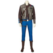 Star Wars 9 The Rise of Skywalker Costume Finn Cosplay Uniform Leather Vest Props Shoes Adult Men Halloween Carnival Outfit Suit