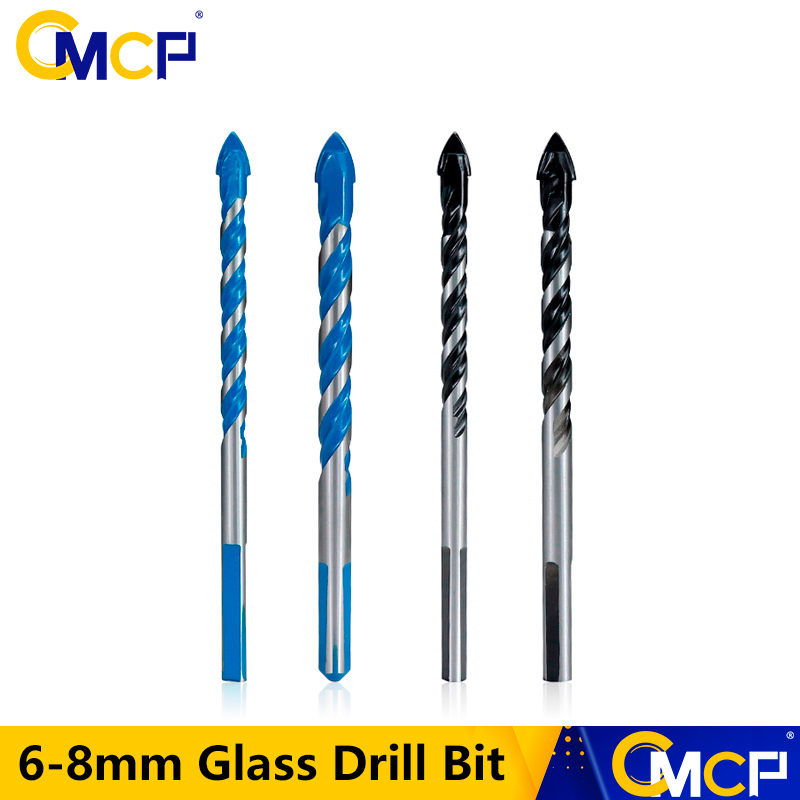 CMCP Glass Drill Bit Twist Spade Drill 6mm 8mm Tungsten Carbide Drill Bits For Ceramic Tile Concrete Glass Marble Etc.