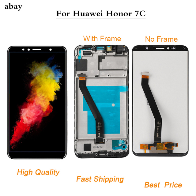 5.7 inch for Huawei Honor 7C aum L41 Aum L41 LCD Display Touch Screen Digitizer Assembly For Huawei Honor7c ATU LX1 / L21 Frame