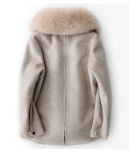 Image 4 - Abrigo de invierno con cuello de piel de zorro saco Bomber de mujer Mujer