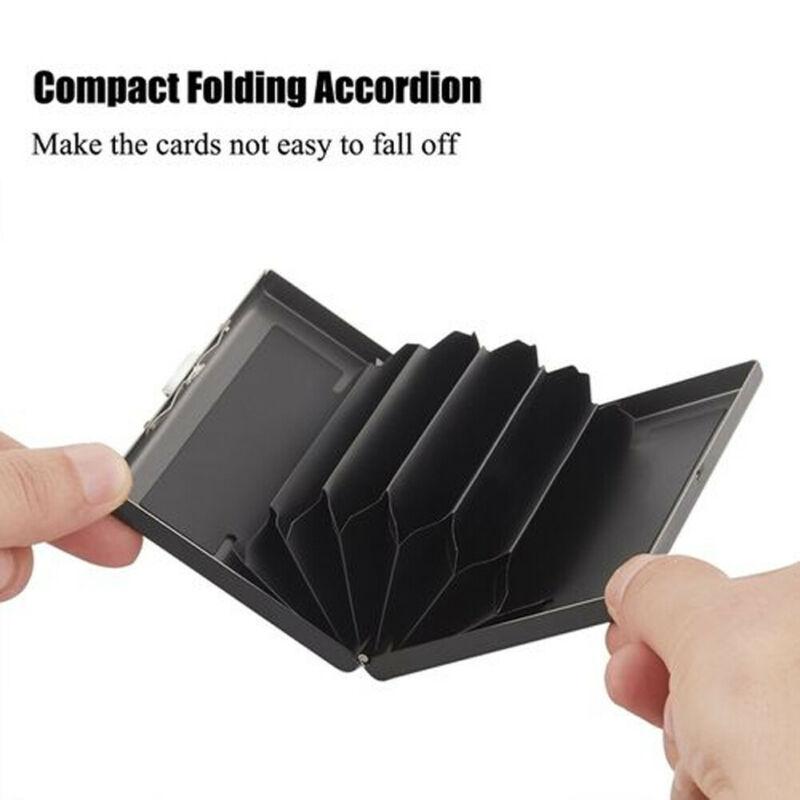 Анти-скан Нержавеющаясталь чехол тонкий блокировки для кошелька паспорта кредитных карт держатель