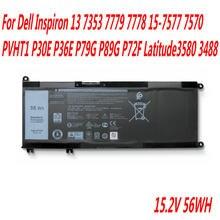 Alta Qualidade 15 13 33YDH Bateria Para Dell Inspiron 7353 7779 7778-7577 7570 PVHT1 P30E P36E P79G P89G P72F Latitude3580 3488