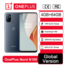 Globale Version OnePlus Nord N100 4GB 64GB Smartphone Snapdragon 460 90Hz 6.52